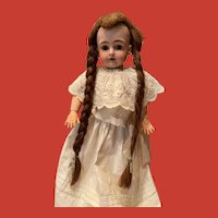 Antique Human Hair Wig for Small Doll