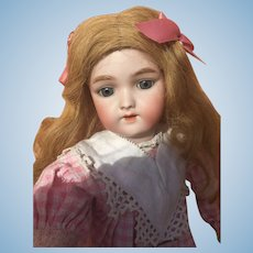 "18"" Antique Heinrich Handwerck Simon & Halbig ""Daisy"" Sister Doll w/ stamped original body."
