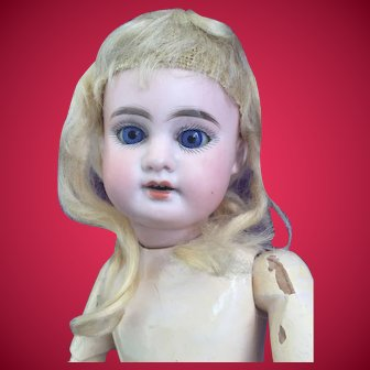 """14""""  Armand Marseille 1894 Doll With Hauntingly Beautiful Blue Eyes."""