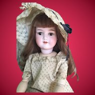 "Antique 24"" Armand Marseille 390n German Bisque Head Doll in Antique clothing."