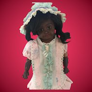 Adorable Vintage Factory Doll Dress and Bonnet.