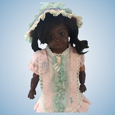 Adorable Vintage Factory Doll Dress and Bonnet.