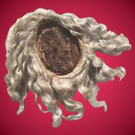Antique Mohair Wig for Jumeau with Original Cork Pate.