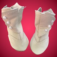 Antique Style Leather Doll Boots