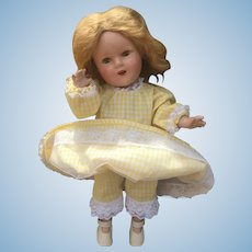 """14"""" Unmarked 1930's Shirley Temple (or look-a-like)Doll w/ Provenance"""
