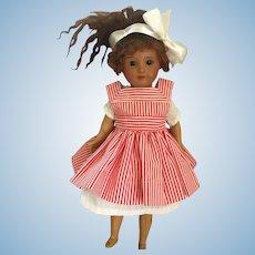 "10"" Antique SFBJ Paris Brown Bisque Head Doll , 1888-on."