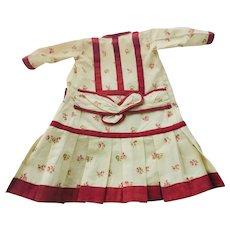 Elegant Antique Style Factory Doll Dress