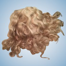 Long And Stunning Ash Blonde Mohair Doll Wig 10""