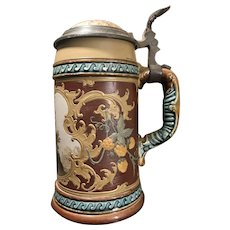 Mettlach Beer Stein # 1946 - Courting scene