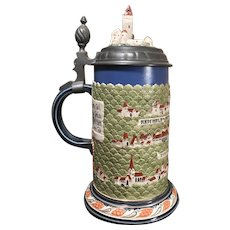 Mettlach Beer Stein # 2829 - Town of Rodenstein