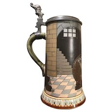 Mettlach Beer Stein # 2776 - Keeper of wine cellar
