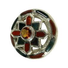 A Celtic Stunner - A Victorian Agate Brooch