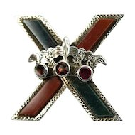 Scottish Brooch - St. Andrews Cross with Crown