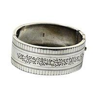 English Sterling Bangle Bracelet Hallmarked 1901-1902