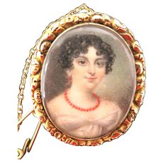 Georgian Portrait Miniature--A Tiny Work Of Art