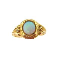 Late Georgian Opal Ring in 15K Gold