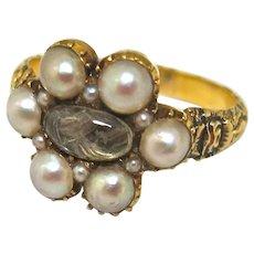 Antique Georgian English Mourning Ring
