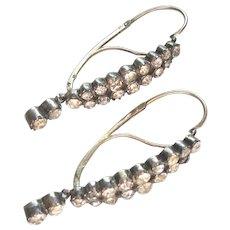 Rare Early Georgian Period Poissarde Earrings