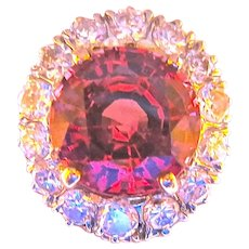 Divine Color--Sparkling Diamonds--A Classy Ring