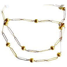 Fashionable 18K Yellow Gold Necklace/Chain