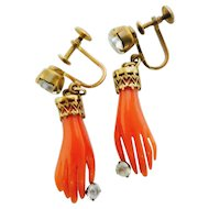 A Handshake in Vintage Earrings