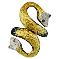 Super Serpent--Double Head Snake Ring