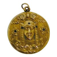 Art Nouveau Egyptian Revival Pendant/Locket
