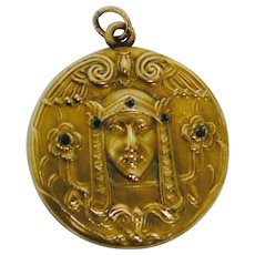 Art Nouveau Egyptian Revival Pendant/Locket