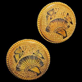 Victorian Earrings Featuring Enamel Decoration