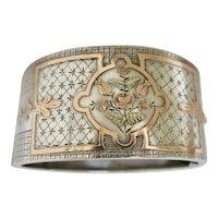 Antique Aesthetic Movement Sterling Bracelet