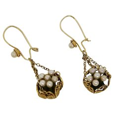 Victorian Delight--Earrings Out of A Basket of Pearls