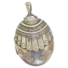 Victorian Sterling Locket With Outstanding Design
