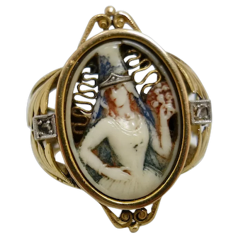 Rare Extraordinary Antique Cameo Ring