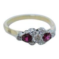 Striking Edwardian Ruby & Diamond Ring
