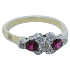 Striking Edwardian Ruby & Diamond Ring
