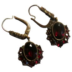 Delightful Classic Victorian Garnet Earrings