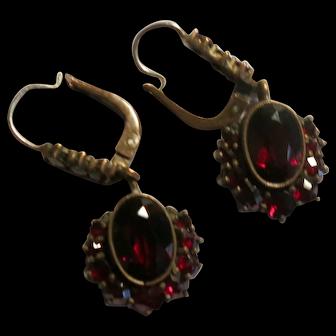 Delightful Classic Victorian Garnet Earrings