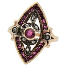 Divine Deco Ruby & Diamond Ring