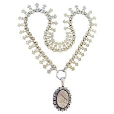 Victorian Sterling Locket & Chain