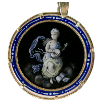 Beautiful Enamel Work On An Antique Pendant
