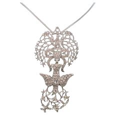 French Victorian St. Esprit Pendant in Silver & Paste