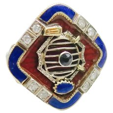 Distinctive Art Deco Ring