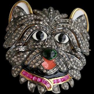 Delightful Vintage Doggie Portrait