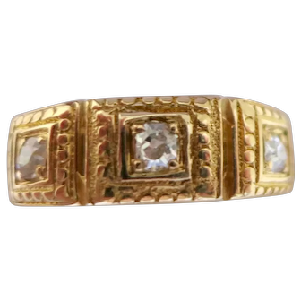 Mid Victorian 18K Trilogy Stack Ring