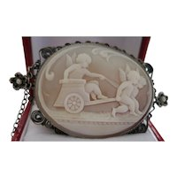 Antique Charmer--Cameo Featuring Cherubs