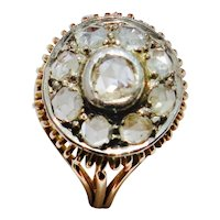 True Victorian Period Diamond Cluster Ring
