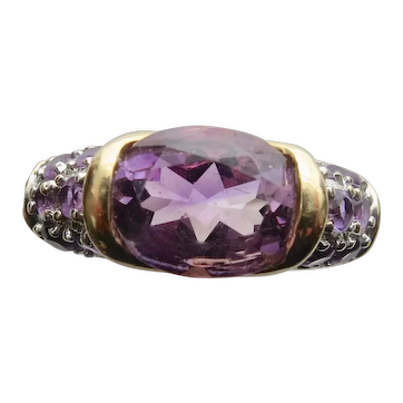 Vintage Sparkling Amethyst Ring