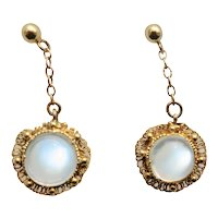 Lucious Victorian Moonstone Earrings
