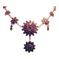 Victorian Garnet Sunburst Necklace