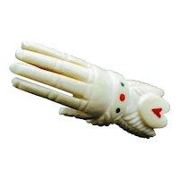 Rare Georgian Carved Bone Hand Figure